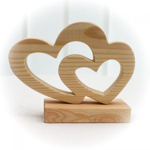 Doppelherz aus Holz