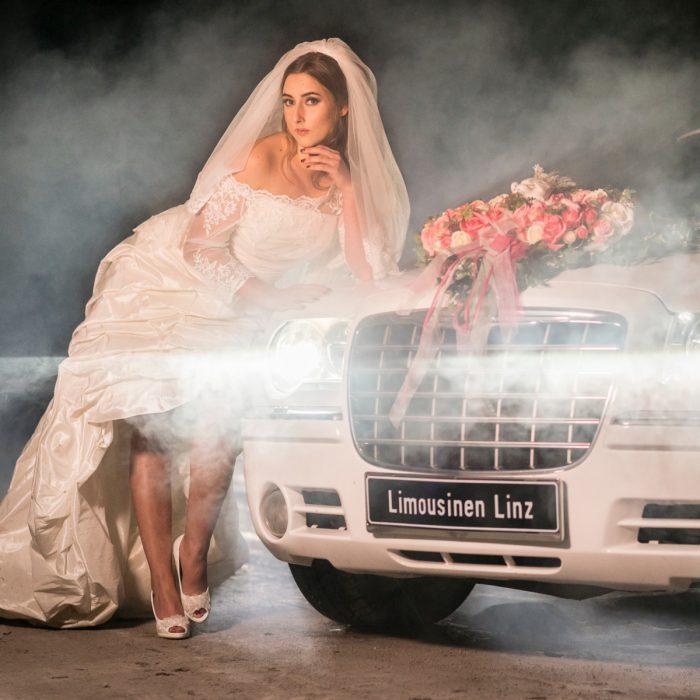 Fotoshooting mit Limousine